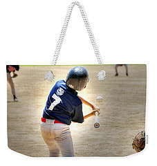 No. 7 At Bat Weekender Tote Bag