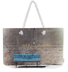 No Ball Playing - Bench Weekender Tote Bag by Colleen Kammerer
