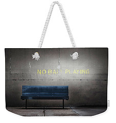 No Ball Playing Weekender Tote Bag by Eduard Moldoveanu