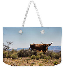 Weekender Tote Bag featuring the photograph No Bull by Glenn DiPaola