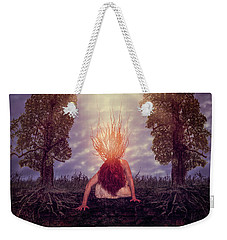 Weekender Tote Bag featuring the digital art No Earthly Roots by Nicole Wilde