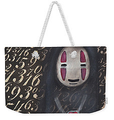 No Face With A Heart Weekender Tote Bag by Abril Andrade Griffith