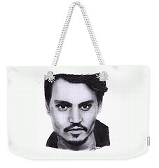 Johnny Depp Drawing By Sofia Furniel Weekender Tote Bag