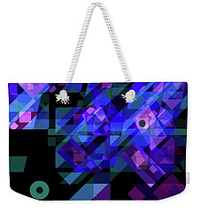 Weekender Tote Bag featuring the drawing No Illusions by Lynda Lehmann