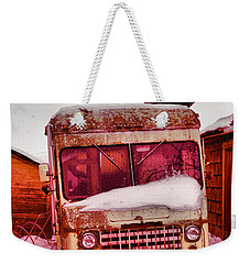 Weekender Tote Bag featuring the photograph No More Deliveries by Jeff Swan