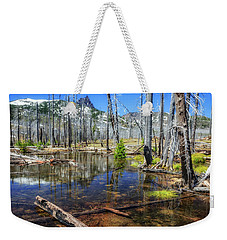 Weekender Tote Bag featuring the photograph No Name Pond by Cat Connor