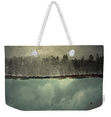 Weekender Tote Bag featuring the photograph No One Ever Leaves  by Mark Ross