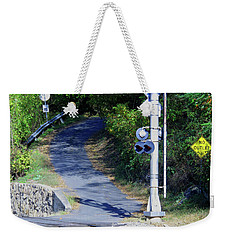 No Outlet Weekender Tote Bag by Sandy McIntire