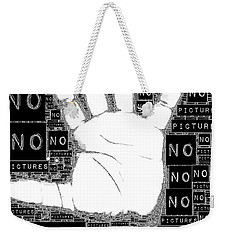 No Pictures Weekender Tote Bag