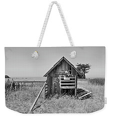 No Spring Chicken In Black And White Weekender Tote Bag