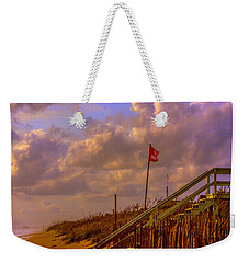 No Swimming Weekender Tote Bag by John Harding
