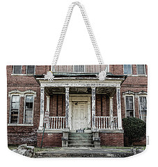 Weekender Tote Bag featuring the photograph No Tresspassing At 386 by Kim Hojnacki