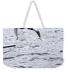 Weekender Tote Bag featuring the photograph No Turning Back by Jez C Self