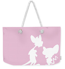 No01 My Minimal Color Code Poster Pinky And The Brain Weekender Tote Bag
