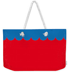 No046 My Jaws Minimal Movie Poster Weekender Tote Bag by Chungkong Art