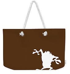No16 My Minimal Color Code Poster Tasmanian Devil Weekender Tote Bag