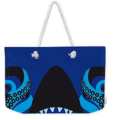 No485 My Sharktopus Minimal Movie Poster Weekender Tote Bag by Chungkong Art