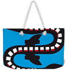 No501 My Snakes On A Plane Minimal Movie Poster Weekender Tote Bag by Chungkong Art