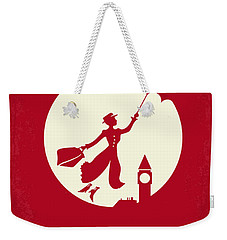 No539 My Mary Poppins Minimal Movie Poster Weekender Tote Bag