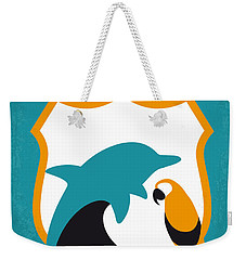 No558 My Ace Ventura Minimal Movie Poster Weekender Tote Bag by Chungkong Art