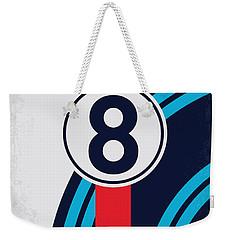 No565 My Bobby Deerfield Minimal Movie Poster Weekender Tote Bag
