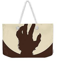 No593 My American Werewolf In London Minimal Movie Poster Weekender Tote Bag