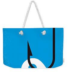 No625 My Splash Minimal Movie Poster Weekender Tote Bag