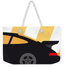 No627 My Bad Boys Minimal Movie Poster Weekender Tote Bag by Chungkong Art