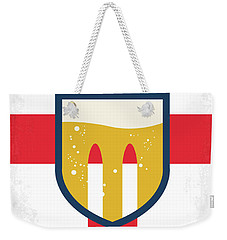 Weekender Tote Bag featuring the digital art No741 My Grimsby Minimal Movie Poster by Chungkong Art