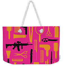 Weekender Tote Bag featuring the digital art No743 My You Dont Mess With The Zohan Minimal Movie Poster by Chungkong Art