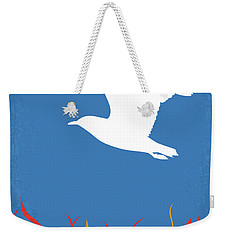 Weekender Tote Bag featuring the digital art No753 My Manchester By The Sea Minimal Movie Poster by Chungkong Art