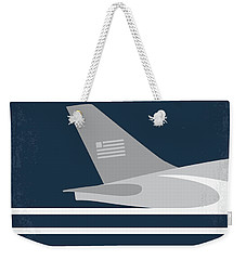 Weekender Tote Bag featuring the digital art No754 My Sully Minimal Movie Poster by Chungkong Art