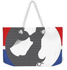 Weekender Tote Bag featuring the digital art No755 My Jackie Minimal Movie Poster by Chungkong Art