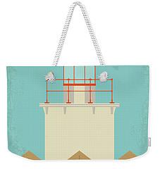Weekender Tote Bag featuring the digital art No760 My Moonrise Kingdom Minimal Movie Poster by Chungkong Art