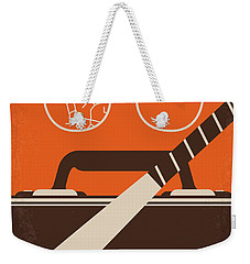 Weekender Tote Bag featuring the digital art No768 My Falling Down Minimal Movie Poster by Chungkong Art
