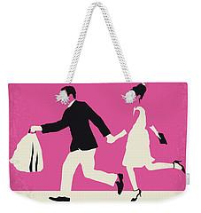 No785 My Paris When It Sizzles Minimal Movie Poster Weekender Tote Bag