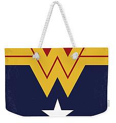 No825 My Wonder Woman Minimal Movie Poster Weekender Tote Bag
