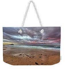 Nobbys Beach At Sunset Weekender Tote Bag