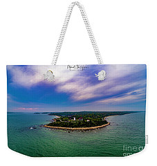 Nobska Lighthouse Panorama Weekender Tote Bag