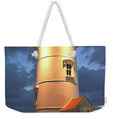 Weekender Tote Bag featuring the photograph Nobska Point Lighthouse by Roupen  Baker