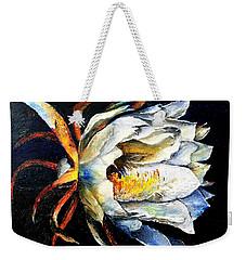 Nocturnal Desert Blossom Weekender Tote Bag