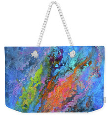 Nocturne Nebula Abstract Painting Weekender Tote Bag