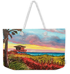 Nokomis Florida Beach At Sunset Weekender Tote Bag