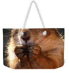 Snacking Prairie Dog Weekender Tote Bag