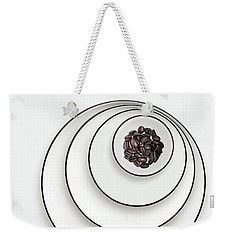 Weekender Tote Bag featuring the photograph Nonconcentric Dishware And Coffee by Joe Bonita