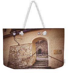 Weekender Tote Bag featuring the photograph Nonnberg Abbey In Salzburg Austria  by Carol Japp