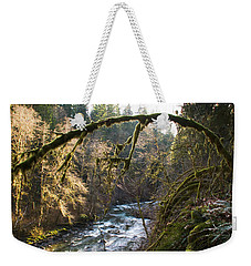 Weekender Tote Bag featuring the photograph Nooksack River by Yulia Kazansky