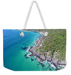 Weekender Tote Bag featuring the photograph Noosa National Park Aerial View by Keiran Lusk