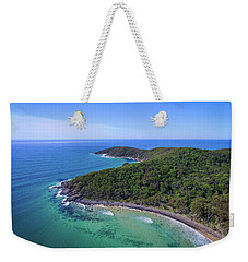 Weekender Tote Bag featuring the photograph Noosa National Park Coastal Aerial View by Keiran Lusk