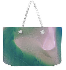 Weekender Tote Bag featuring the photograph Noosa River Abstract Aerial Image by Keiran Lusk
